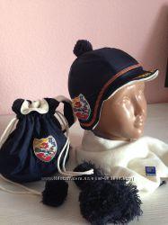 Фирменный набор Шапка плюс шарф плюс сумка Original Marines. Италия