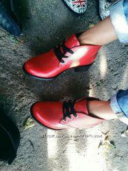 Стильные ботинки, низкий ход кожа, замш