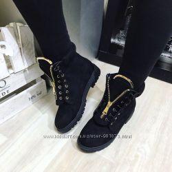 Стильные ботинки, спереди на молнии реплика Balmain