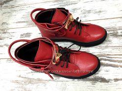 Стильные ботинки Hermes, натуральная кожа демисезонные