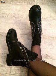 Ботинки низкий ход. Демисезонные на замше, шнурках