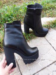 Ботинки. Ботильоны натуральная кожа, замш, кожа