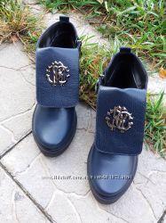 Ботинки Roberto Cavalli натуральная кожа, замш