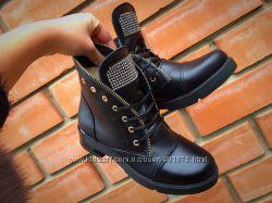 Демисезонные ботинки Натуральная кожа, замш, в стиле Balmain