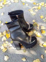 Зимние ботинки, натуральная кожа, замш, мех