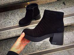 Демисезонные ботинки, натуральный замш