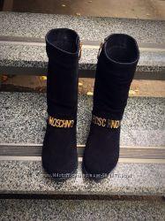 Демисезонные сапоги, Moschino натуральная кожа, замш