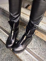 Стильные ботинки Деми, зима натуральная кожа, лак