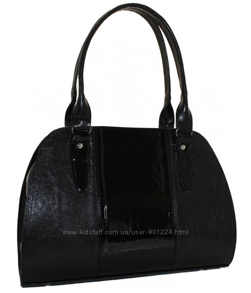 bfe2d98dcb84 Черная каркасная сумка с лаковой и замшевой вставкой, 320 грн. Женские сумки  - Kidstaff | №17004437