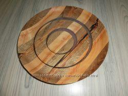 большая красивая деревянная тарелкаблюдо