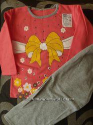 яркая пижамка для девочки 104-110 р