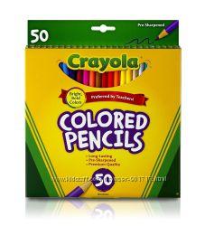 Карандаши цветные Crayola 50 штук