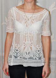 Ажурная кружевная блуза блузка  new look размер м