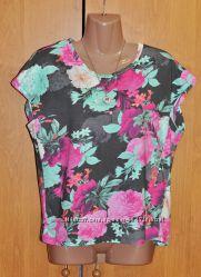 Женская летняя котоновая блуза в цветочный принт Next