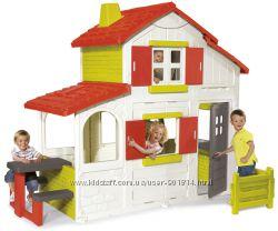 Домик Smoby Duplex 320023 с кухней-барбекю и звонком