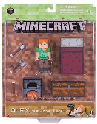 Алекс набор для выживания Майнкрафт Minecraft Survival Pack Alex Action