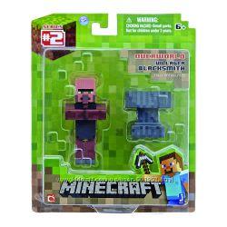 деревенский кузнец и наковальня Майнкрафт Minecraft Blacksmith Villager