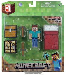 Стив набор для выживания Майнкрафт Minecraft Survival Pack Steve Action