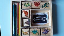 Шампики печати динозавры от Melissa&Doug оригинал Мелисса дог игра дино
