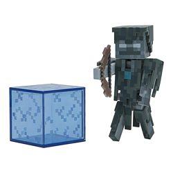 фигурка Зимогор с блоком Стрей Майнкрафт Minecraft Stray Figure Pack оригин
