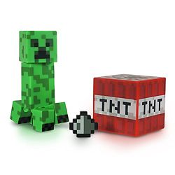 фигурка Крипер с блоком тнт Майнкрафт Minecraft Core Creeper Figure Pack