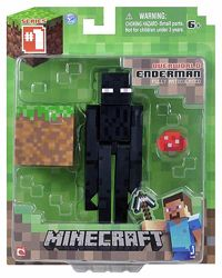 фигурка Эндермен с блоком Майнкрафт Minecraft Core Enderman Figure Pack