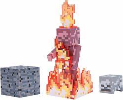 Скелет в огне Майнкрафт Minecraft Skeleton on Fire Action Figure Pack