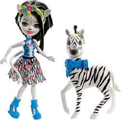 Кукла Энчантималс Зелена Зебра Enchantimals Zelena Zebra зеленая зибра
