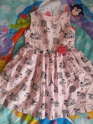 Летние нарядные платья. На 3-5 лет