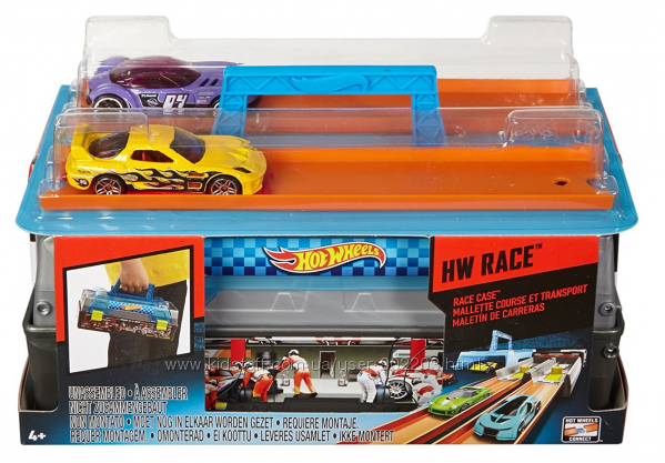 Кейс-Гараж Гонки Хот Вилс с 2 машинками. Hot Wheels Race Case Track