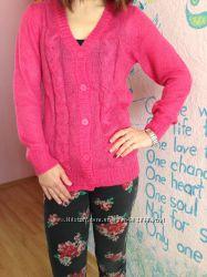 Кардиган ярко- розового цвета  34-36р H&M Германия