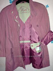 Розовый плащ , ветровки-XXLр и куртка, пальто Германия.