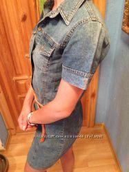 Джинсовая куртка, джинсовое платье оригинал-S OLIVER- 34р-36р Германия