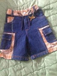 Шорты моднячие джинсовые 110р. мальчикуSTARS Германия