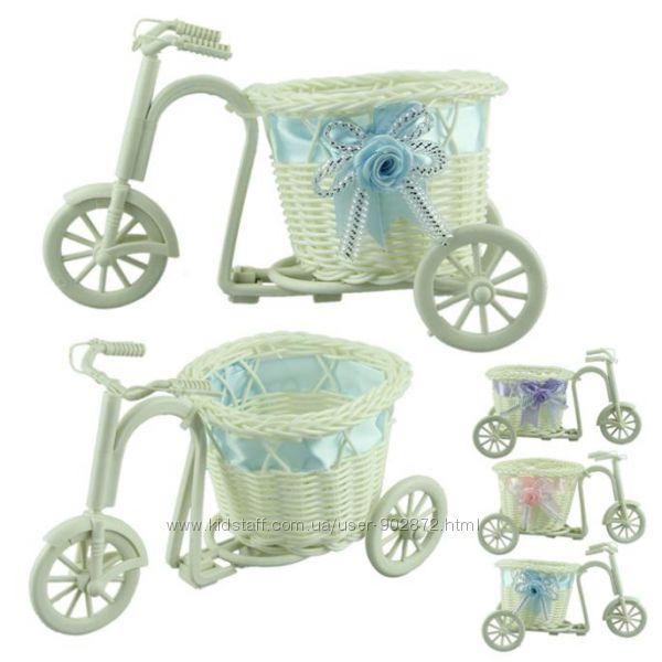 горшок для вазона в виде велосипеда