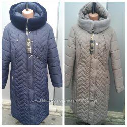 Новые модели женских пуховиков- пальто с 52 по 62 размер