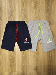 Детские шорты бриджи для мальчиков Тик-Ток 7-10 лет