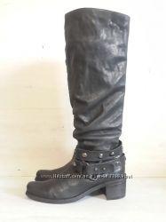 Vic matie. высокие кожаные сапоги.