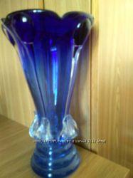 цветное стекло ваза большая