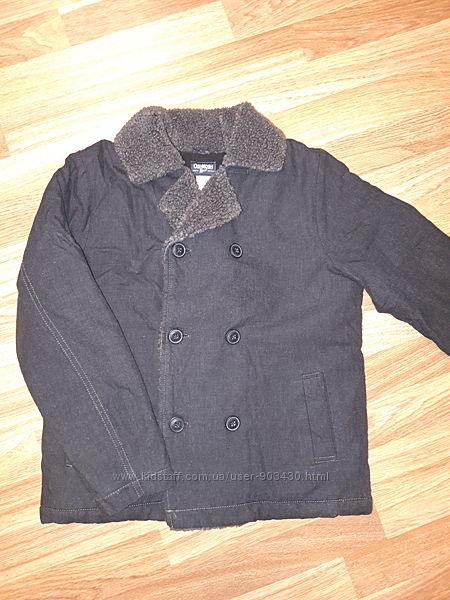 Куртка джинсовая новая деми шерпа OshKosh Carters на 10лет