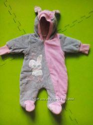 Теплый комбинезон Kid Joy для новорожденного, весенний вариант, с ушками