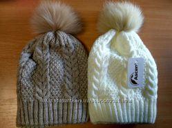Зимние шапки для девочек на холофайбере