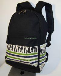 Мужской рюкзак принт. Школьный портфель. Женский рюкзак. Городской рюкзак