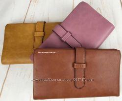 Женский кошелек кожа. Бумажник, модный клатч, портмоне