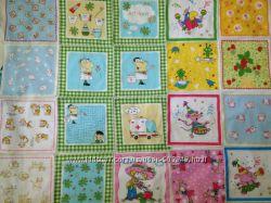 Детские носовые платочки, 21расцветка