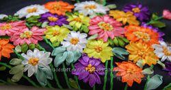 Набор для вышивания лентами, цветы
