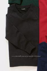 Вязаный джемпер пуловер NEXT с треугольным вырезом 3-16 лет на 170-176 см
