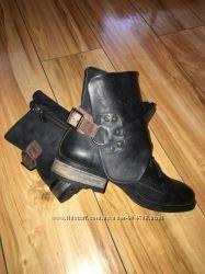 Ботинки берцы кожаные.