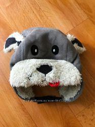 Теплая зимняя шапка ушанка собачка Next