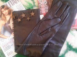 Шикарные кожаные перчатки Chanel